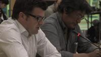 Link to: Lloyd Lipsett, Pt. 2 English, with Zacharias Kunuk, Formal Intervention, NIRB Technical Hearing, July 23, 2012, Igloolik, Part 2/5, 7:15 original English