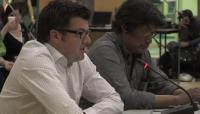 Link to:  Lloyd Lipsett, Pt. 3 English, with Zacharias Kunuk, Formal Intervention, NIRB Technical Hearing, July 23, 2012, Igloolik, Part 3/5, 9:06 original English